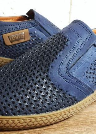 Летние мужские кожаные туфли наложенный платеж обмен возврат10 фото