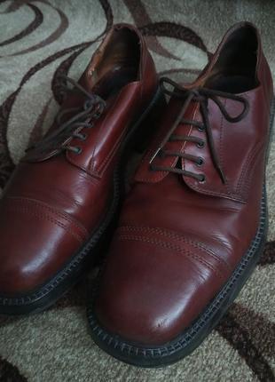 Туфли мужские коричневые-натуральная кожа!