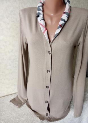 Трикотажная рубашка из тончайшей шерсти burberry brit