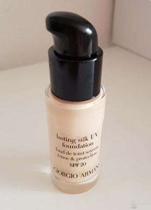 Giorgio armani lasting silk uv foundation spf20 - тональный крем