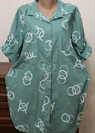 Платье-рубашка, размер 56-60