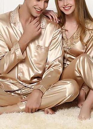 Роскошная шелковая пижама, домашний шелковый костюм, именно натуральный шёлк шелк,