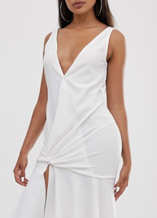 Нарядное белое платье asos