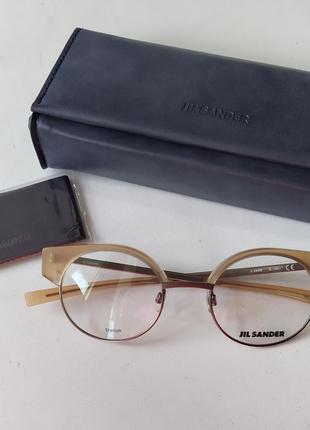 Новая титановая оправа jil sander унисекс очки круглая cateye