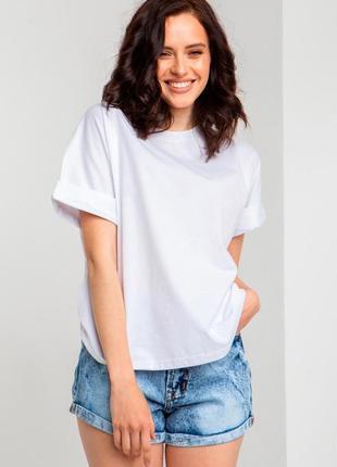 Базовая свободная трикотажная футболка sale