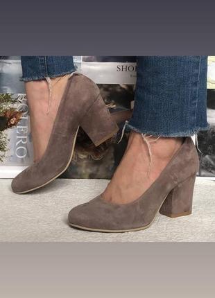 Nona! женские качественные классические туфли замшевые красные взуття на каблуке 7,5 см