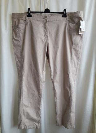 Коттоновые брюки большого размера,баталы 62-64рр