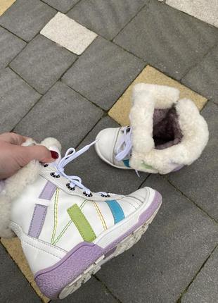 Сапоги ботинки зимние с мехом детские