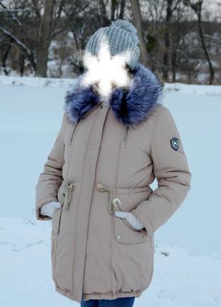 Зимнее пальто-парка на холлофайбере (большого размера. можно для беременных)