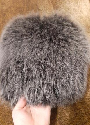 Меховая шапка  / песцовая зимняя шапка