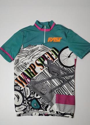 Велосипедная футболка fast (italy)