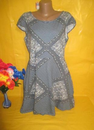 Женское платье с красивой спиной dorothy perkins  рр 16 грудь 49-59 см 96% катон1 фото