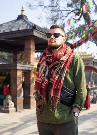 Непальский палантин из шерсти яка