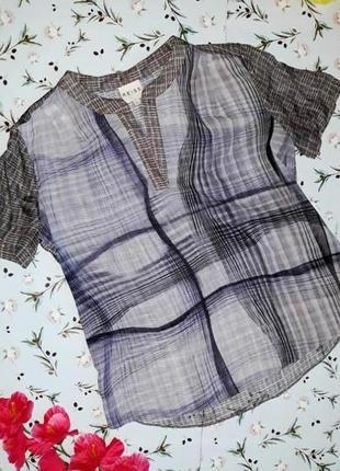 🎁1+1=3 фирменная шифоновая блуза блузка reiss, размер 46 - 48