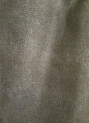 Джинсовая юбка в принт под рептилию