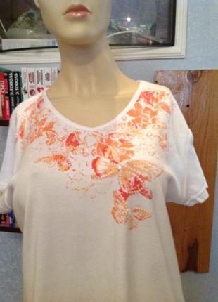 """Уютнейшая, итальянская блуза (футболка) """"бабочки"""" р. 56-60"""