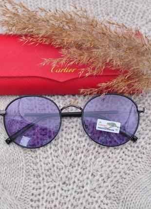 Солнцезащитные круглые фотохромные очки polarized окуляри хамелеон