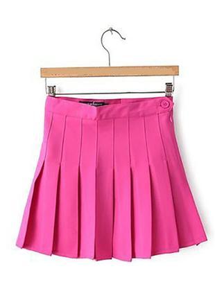 Теннисная корейская юбка в складку court по типу american apparel