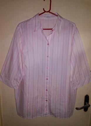 Женственная,нежная,блузка-рубашка на пуговицах,большого размера,atelier creation,германия