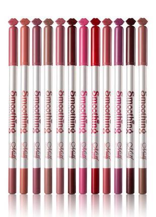 Набор карандашей для губ menow smoothing liner pencil (12 штук)