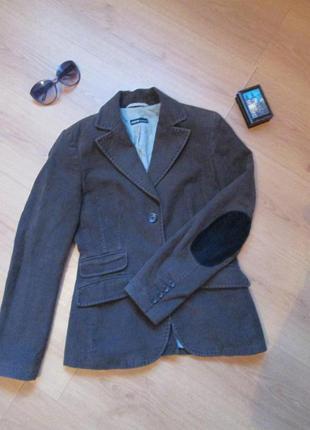 Вельветовый пиджак жакет с латками