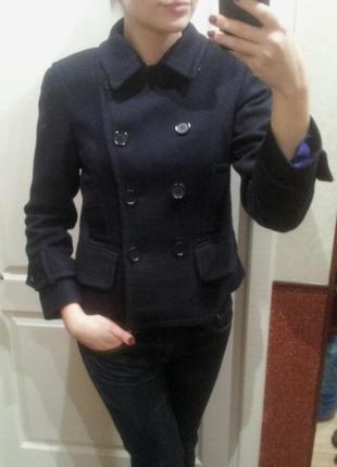 Пальто осеннее темно-синее от пола костелло