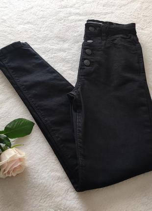 Черные джинсы высокая посадка американка