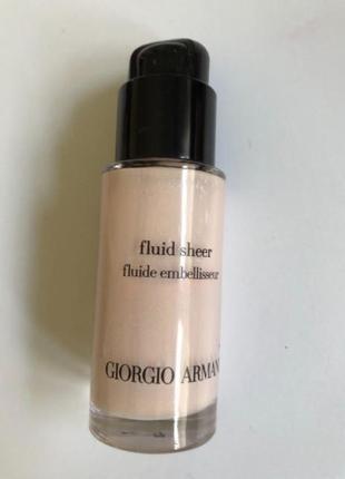 Уценка - giorgio armani fluid sheer жидкий тональный флюид