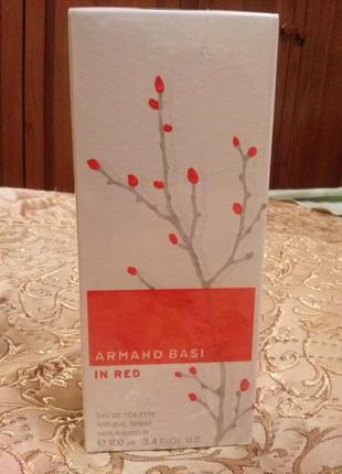 "Духи женские ""armand basi in rеd"" 100 ml. новые! оригинал!"