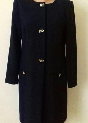 Элегантное синее пальто marks & spencer