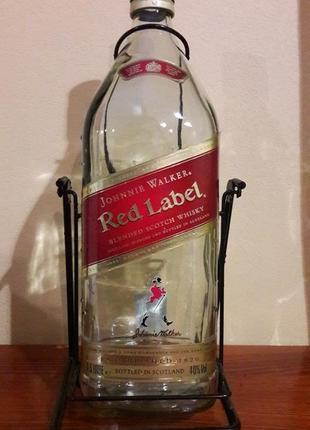 Набор (подставка-качели с бутылкой 4,5л из-под виски, для вина, коньяка)