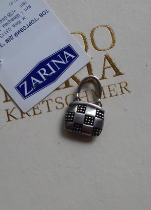 Кулон сумочка серебро 925
