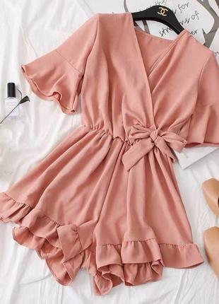 Комбез комбинезон пудровый розовый