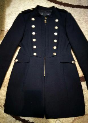 Пальто zara милитари размер xl состояние нового