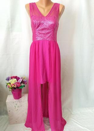 Красивое платье, асиметричное, рр м