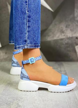 Грубые кожаные замшевые босоножки сандалии с закрытой пяткой на толстой подошве
