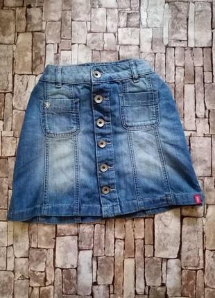 Джинсовая юбка на кнопках esprit denim