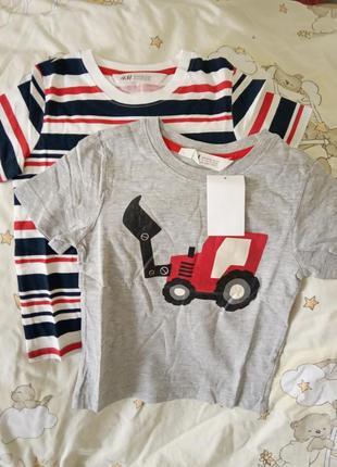 Футболка комплект футболок h&m hm 2-4 года 98-104