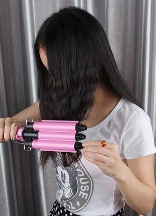 Тройная плойка для завивки волос