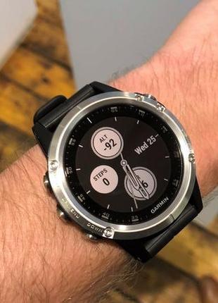 Часы garmin fenix 5 plus silver