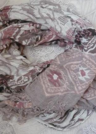 Шарф, палантин, шейный платок, трендовые цвета этой осени 80-180см