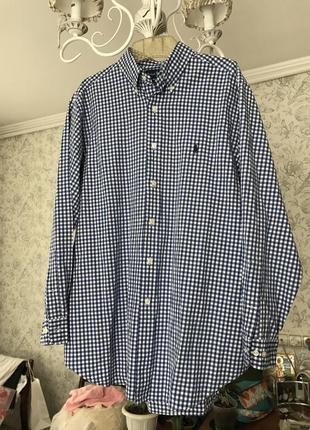 Суперская оригинальная рубашка polo ralph lauren в клетку