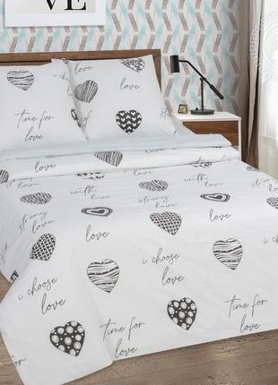 Про любовь - постельное белье сердца поплин, 100% хлопок