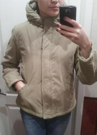 Куртка теплая оливкового цвета