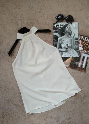 Красивая блуза с воротником стойкой и кружевной спинкой/блуза/кофточка/топ/майка