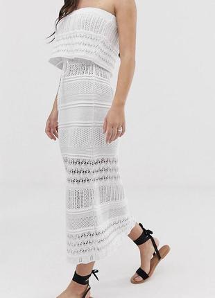 Платье миди в стиле кроше