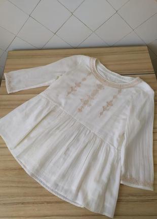 Индия.легкая блуза с баской и на подкладке.