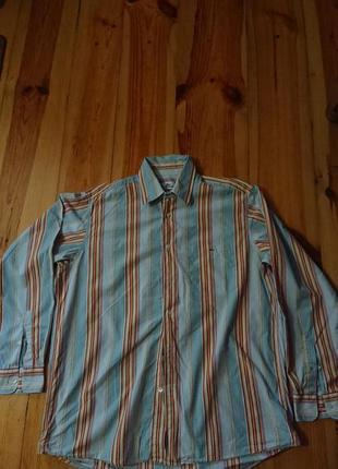 Брендова фірмова рубашка сорочка lacoste,оригінал, розмір 42(l).
