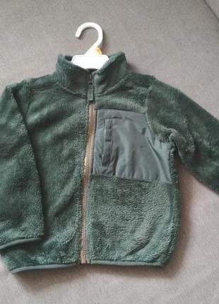 Куртка деми бомбер меховой кофта carter's (картерс), сша, мальчику девочке на 2-3 года