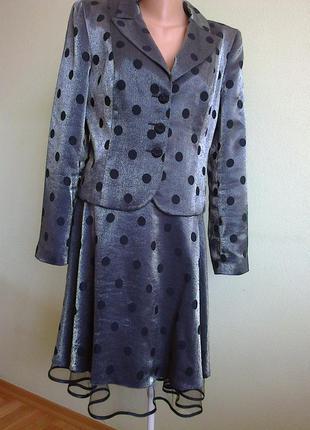 Роскошный пиджак в горошек petro soroka
